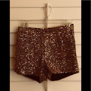 Gold sequin short Ark & Co. Stretchy, barely worn